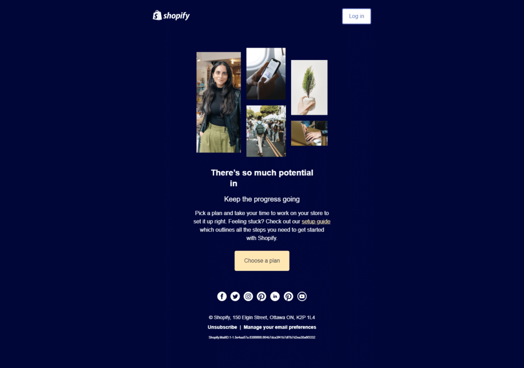 onboarding page example